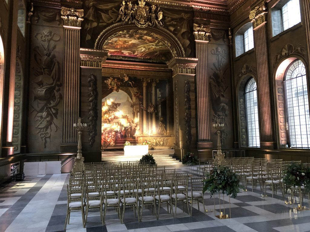 Old Royal Naval College Painted Hall stage view