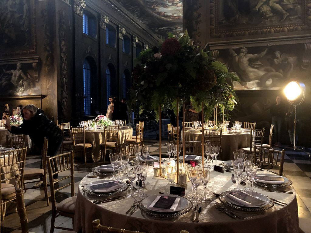 Old Royal Naval College Painted Hall guest tables