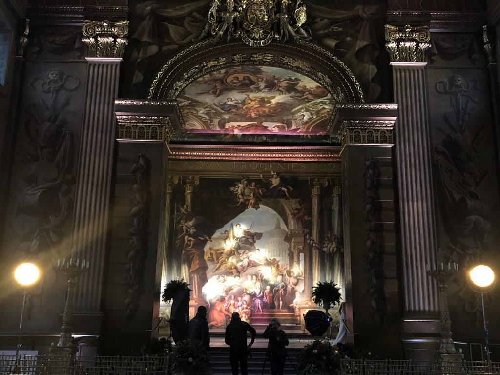 Old Royal Naval College Painted Hall stage silhouette
