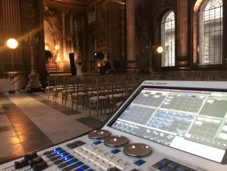Old Royal Naval College Painted Hall mixing desk
